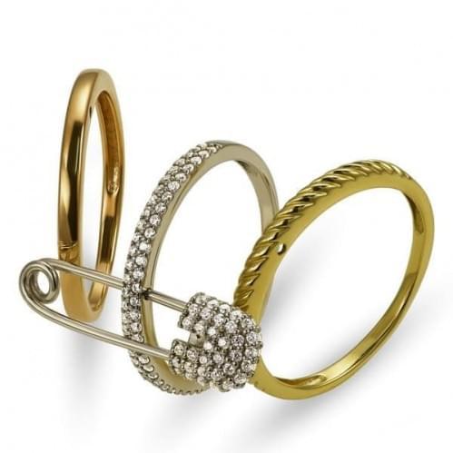 Золотое кольцо с фианитом КВ1362(м)и