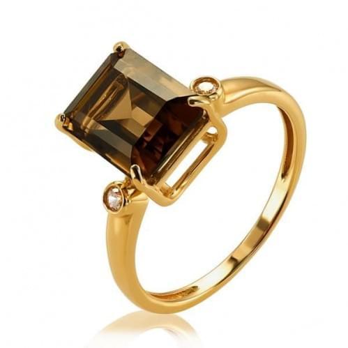 Золота каблучка з топазом КВ1363.12011н