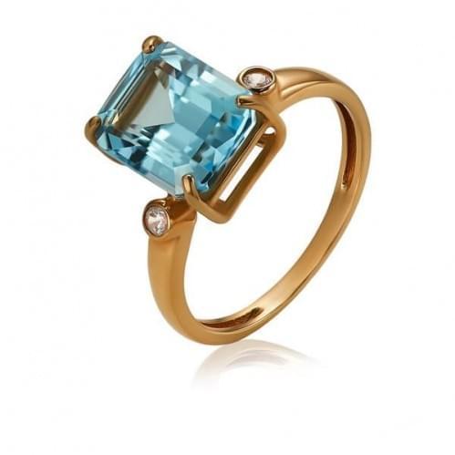 Золотое кольцо с топазом КВ1363.12401н