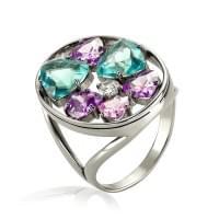 Кольцо серебряное со вставкой Мириада
