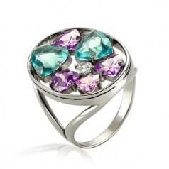 Серебряное кольцо с фианитом КВ1365с
