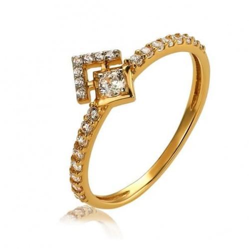 Золотое кольцо с фианитом КВ1366и