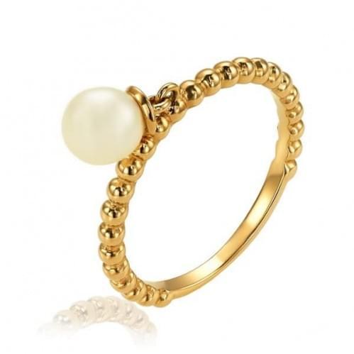 Золотое кольцо с жемчугом КВ1367и