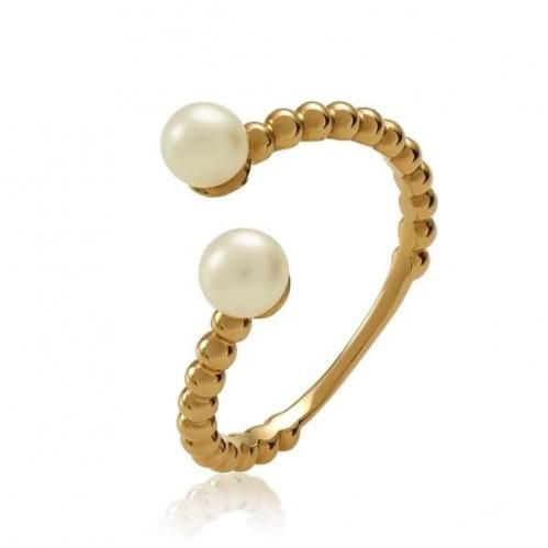Золотое кольцо с жемчугом КВ1367(2)и