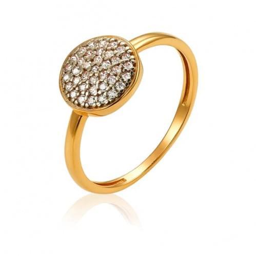 Кольцо в красном золоте с цирконием