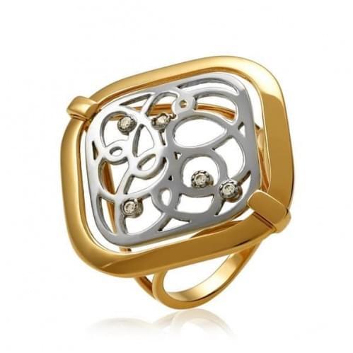 Золотое кольцо с фианитом КВ1369и