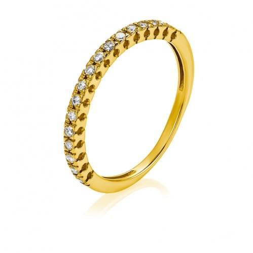 Каблучка з лимонного золота з діамантом КВ1372.00100Лн
