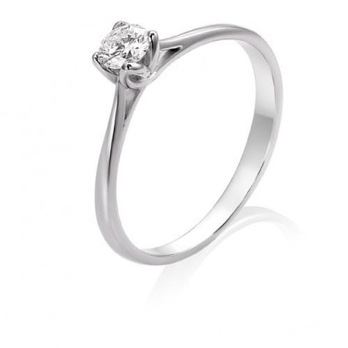 Каблучка з білого золота з діамантом КВ1373.00100Бн