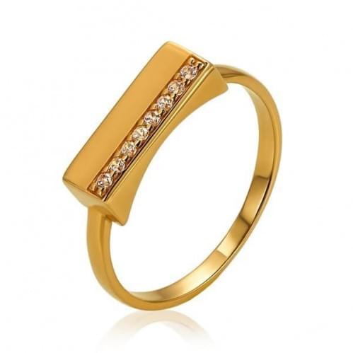 Золотое кольцо с фианитом КВ1375и
