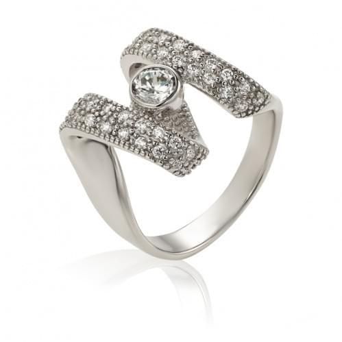 Срібний перстень з фіанітом КВ138с