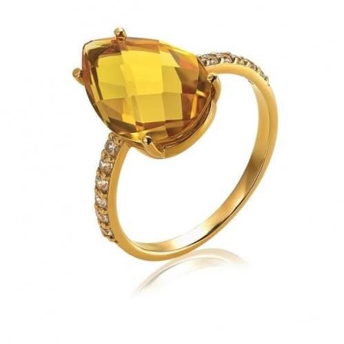 Золота каблучка з цитрином КВ1380.10408н