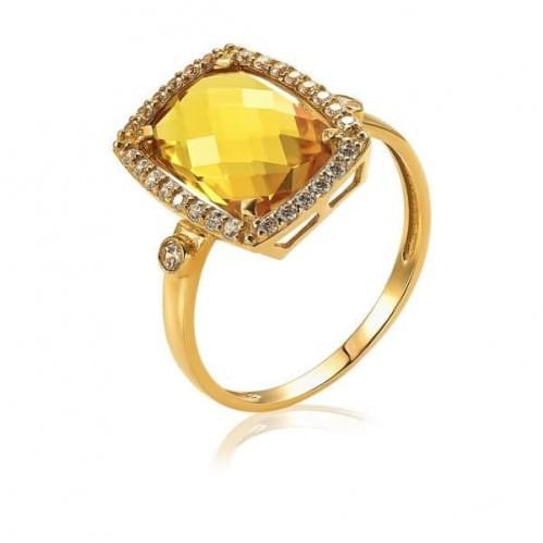 Золота каблучка з цитрином КВ1382.10408н