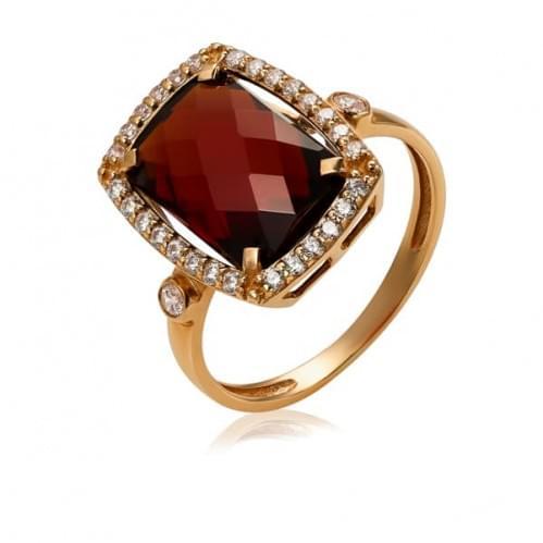 Золотое кольцо с нано гранатом КВ1382.16203н