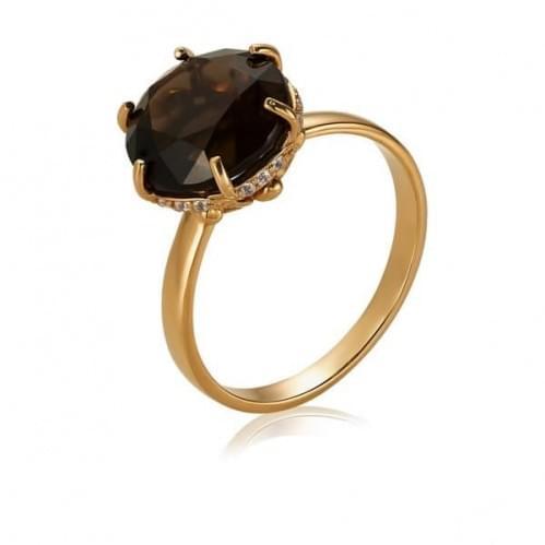 Золотое кольцо с топазом КВ1383.12011н