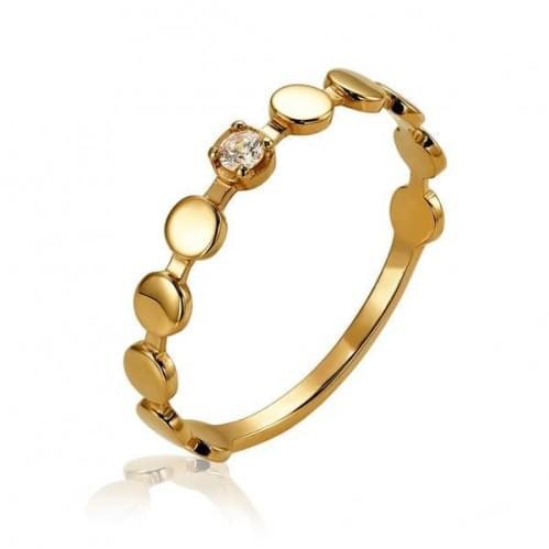 Золотое кольцо с фианитом КВ1386и