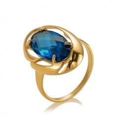 Золотое кольцо с нано топазом london