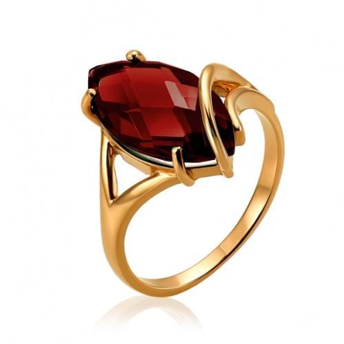 Золотое кольцо с нано гранатом КВ1389.16203н КВ1389.16203н