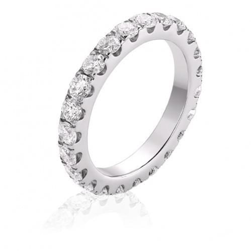 Кольцо из белого золота с бриллиантом КВ1390.00100Бн