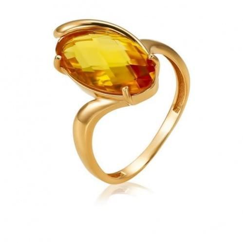 Золотое кольцо с цитрином КВ1391.10408н