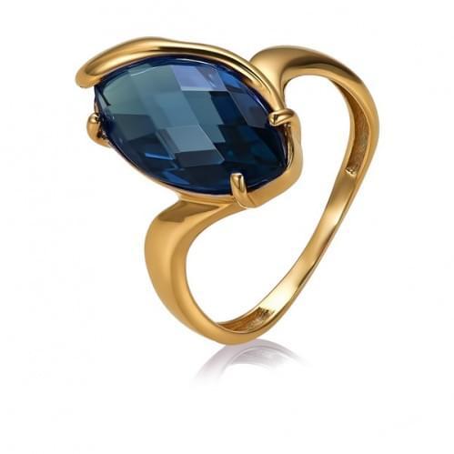 Золотое кольцо с нано топазом london КВ1391.17301н
