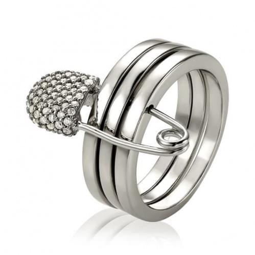 Кольцо серебряное трансформер