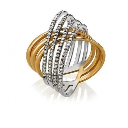 Золотое кольцо с фианитом КВ1436р