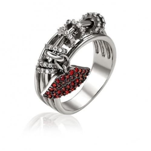 Серебряное кольцо с фианитом КВ1439(2)с
