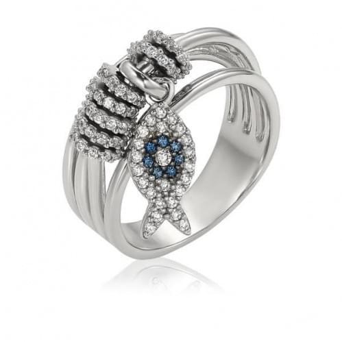 Серебряное кольцо с фианитом КВ1439.02с