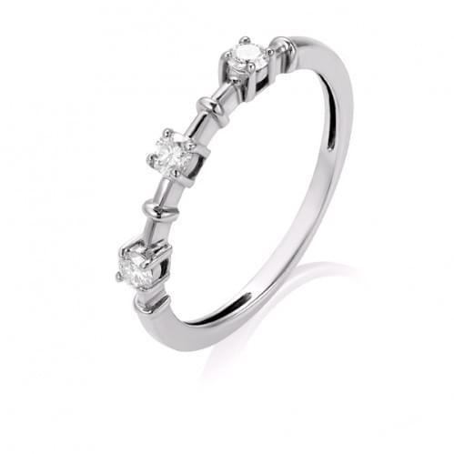 Кольцо из белого золота с бриллиантом КВ1443.00100Бн