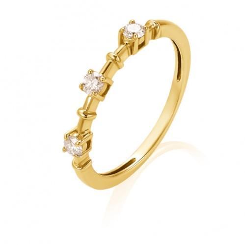 Кольцо из лимонного золота с бриллиантом КВ1443.00100Лн