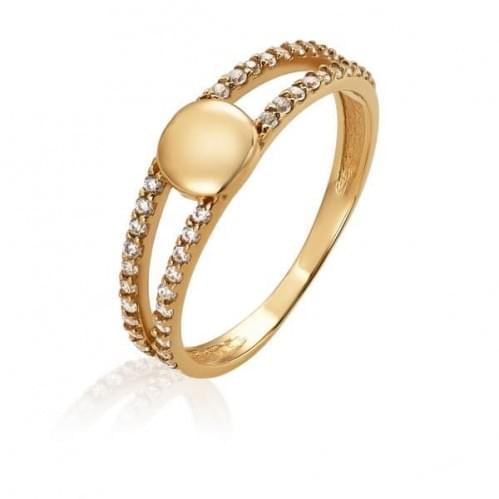 Золотое кольцо с фианитом КВ1451и