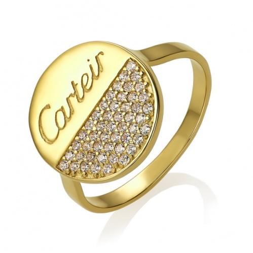 Кольцо из лимонного золота с фианитом КВ1455Ли