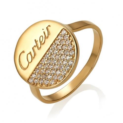 Золотое кольцо с фианитом КВ1455и