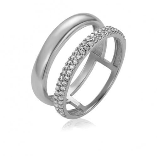 Кольцо из белого золота с фианитом КВ1456Би