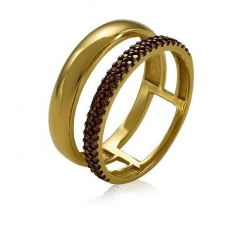 Кольцо из лимонного золота с фианитом КВ1456.11Ли