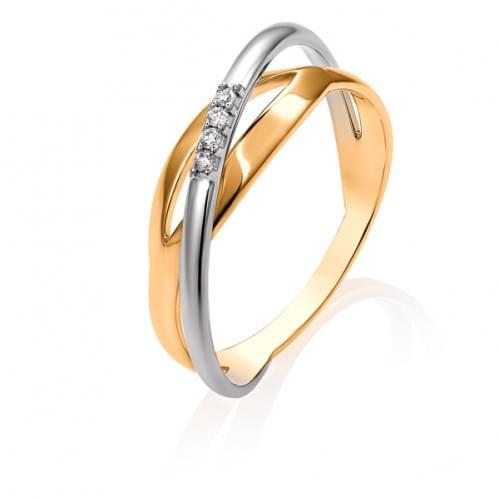 Золота каблучка з діамантом КВ1459.00100н