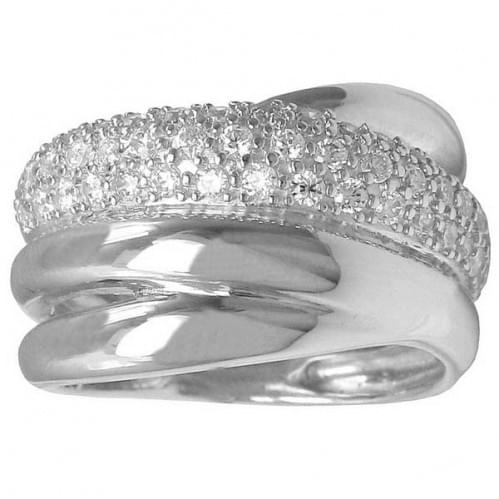 Серебряное кольцо c цирконием КВ147с