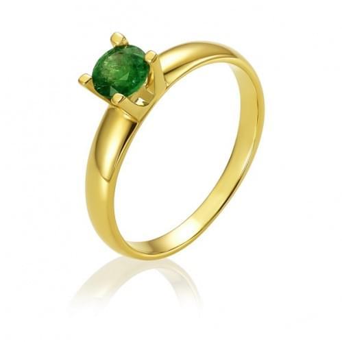 Кольцо из лимонного золота с изумрудом КВ1481.00207Лн
