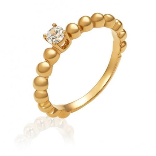Золотое кольцо с фианитом КВ1484и