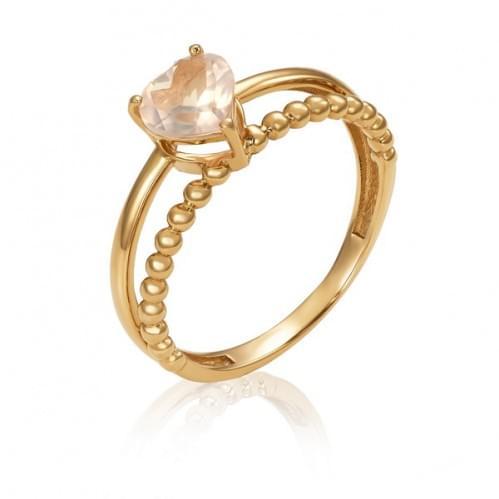 Золотое кольцо с кварцем КВ1513.14304н