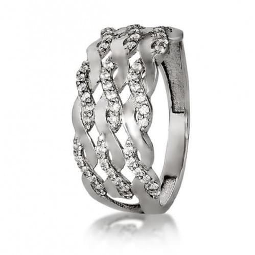 Серебряное кольцо с фианитом КВ177с