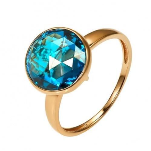 Золотое кольцо с нано камнем КВ1853.17301н