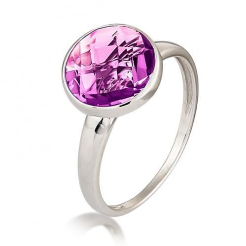 Серебряное кольцо с фианитом КВ1854.04с