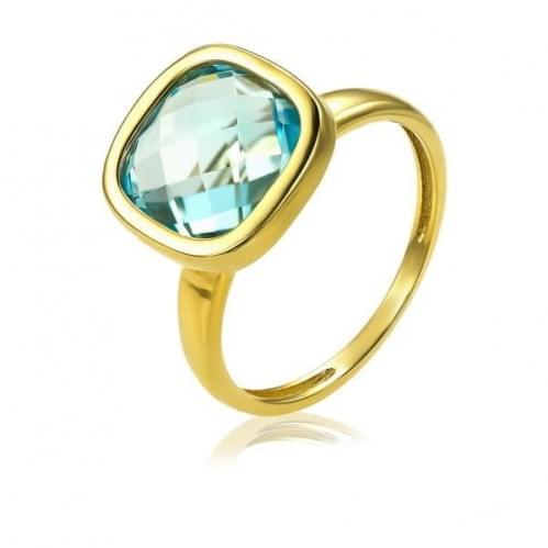 Кольцо из лимонного золота с топазом КВ1855.12401Лн
