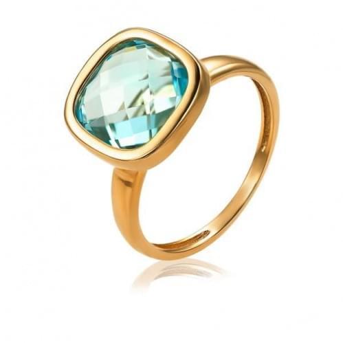 Золотое кольцо с топазом КВ1855.12401н