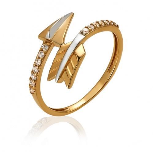 Золотое кольцо с фианитом КВ1902р