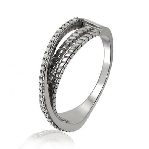 Серебряное кольцо с фианитом КВ1949с