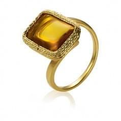 Каблучка з лимонного золота з цитрином (Флорентіно - Collection Florentino)