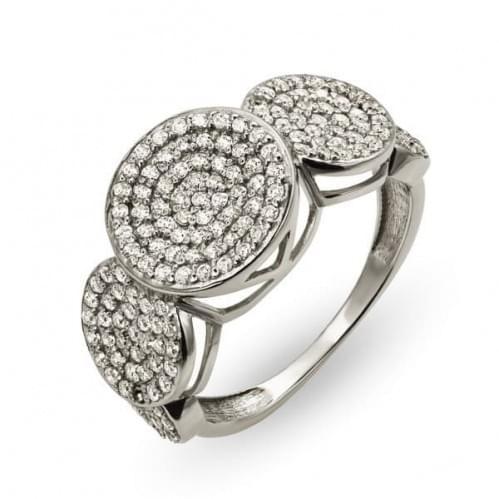 Кольцо из белого золота с фианитом КВ2328Би