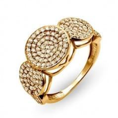 Золотое кольцо с фианитом КВ2328и